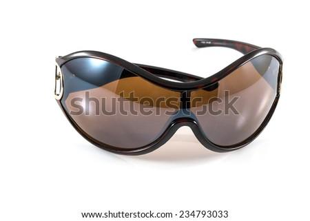 Black sunglasses on white backgrund - stock photo