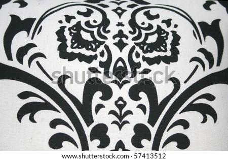 Black Swirl Pattern on White Background - stock photo