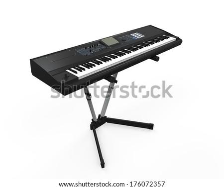 Black Synthesizer - stock photo