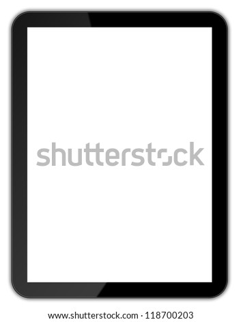 Black tablet - stock photo