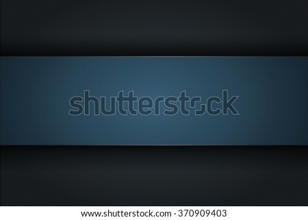 Black technological background with blue strip - stock photo