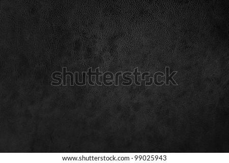 black texture leather - stock photo