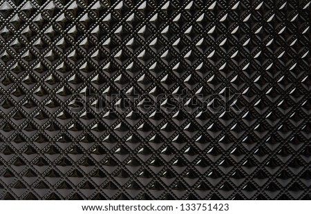 Black texture with squares - stock photo