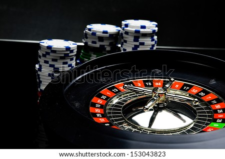 Black theme, casino, gambling - stock photo