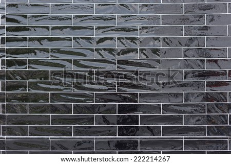 Black tile - stock photo