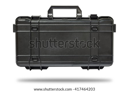 Black tool box isolate on white background with clipping path  - stock photo