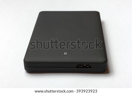 """Black USB 3.0 External Hard Drive case  2.5"""" inch isolated on a white background - stock photo"""