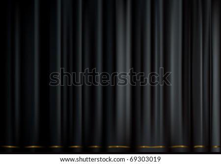 Black velvet, Bitmap copy - stock photo