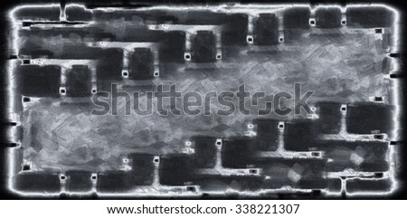 black wall abstract grunge texture - stock photo