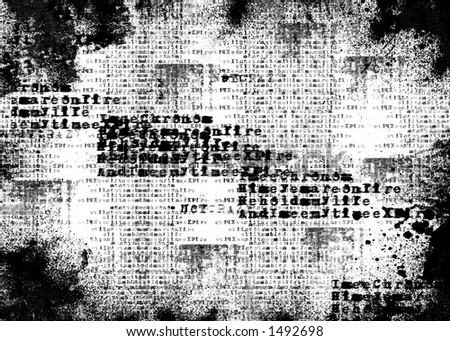 Black & White Burned background - stock photo