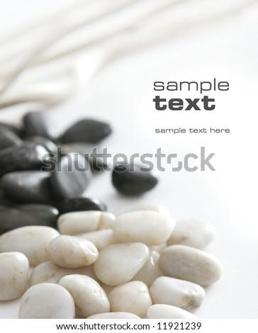 black & white stones - stock photo