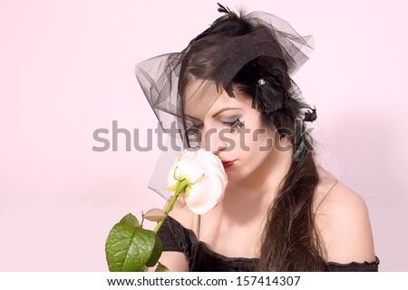 black widow woman  - stock photo