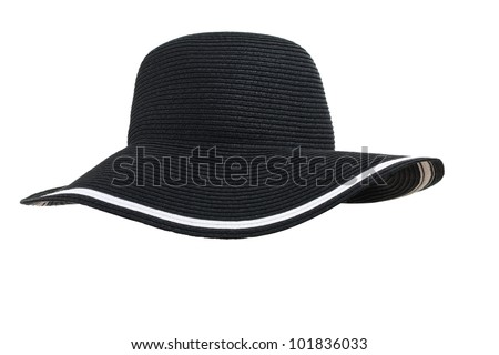 black woman's hat isolated on white background - stock photo
