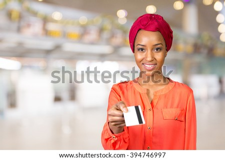 black woman with a credit card - stock photo