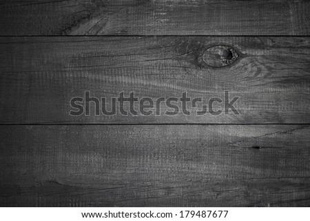 Black Wood Background./ Black Wood Background. - stock photo