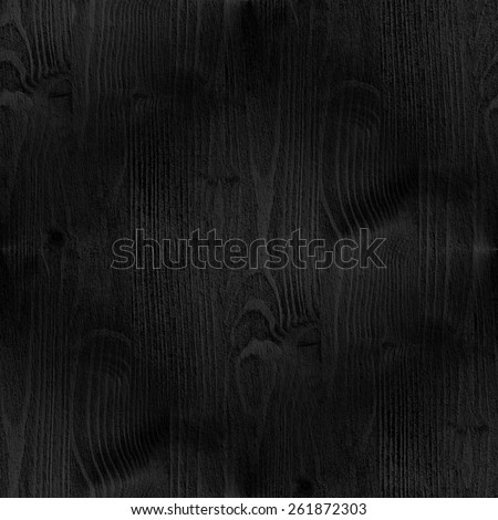 black wood, grunge rough texture, vertical seamless pattern - stock photo