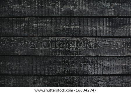 Black wooden planks background - stock photo