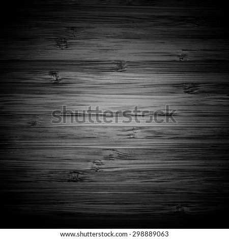 Black Wooden Surface Texture - stock photo