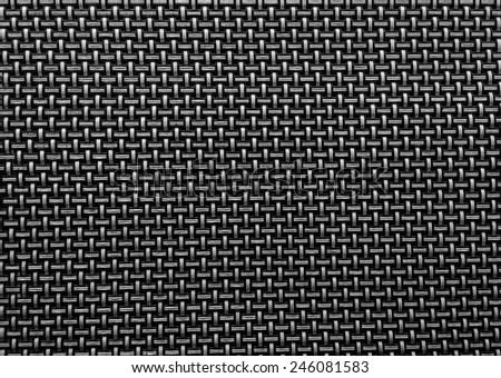 Black woven texture background - stock photo
