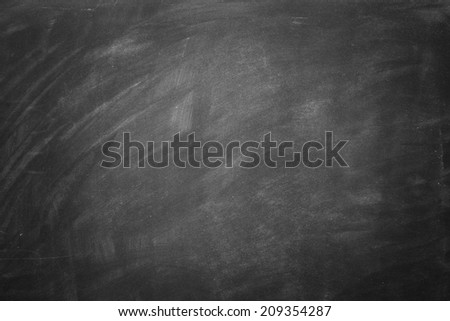 Blackboard./ Blank Blackboard - stock photo