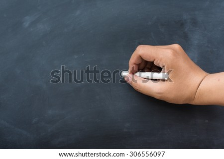 Blackboard / chalkboard. Hand writing with copy space for text. Nice texture. - stock photo