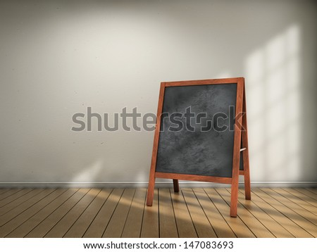 Blackboard menu inside a room - stock photo