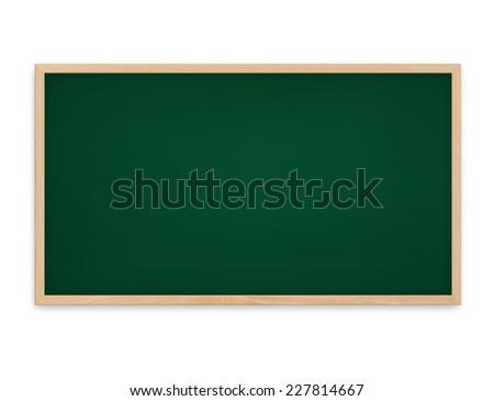 Blackboard on white background. - stock photo