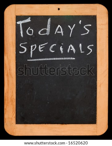 """Blackboard with """"Today's Specials"""" - stock photo"""
