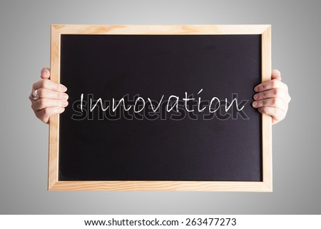 blackboard write Innovation - stock photo
