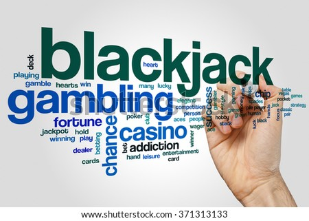 Blackjack word cloud - stock photo
