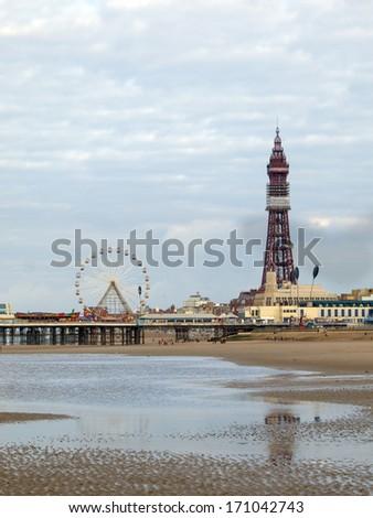 Blackpool tower  - stock photo
