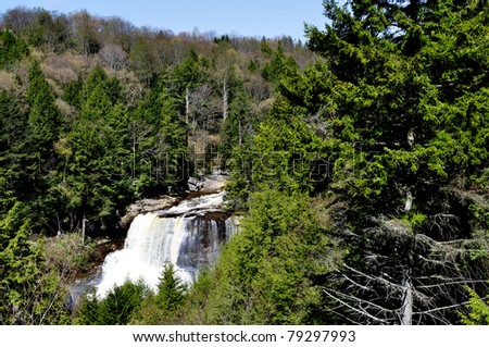 Blackwater Falls, Blackwater Falls State Park, West Virginia, USA - stock photo
