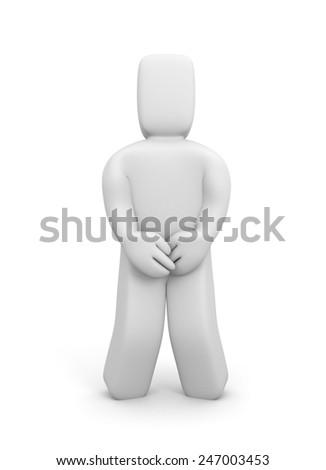 Bladder control problem - stock photo