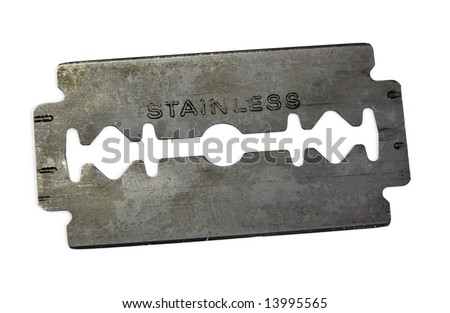 blade on white background - stock photo