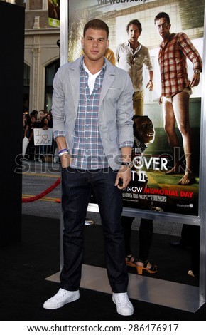 Blake Griffin at the Los Angeles premiere of 'The Hangover Part II' held at the Grauman's Chinese Theatre in Hollywood on May 19, 2011.  - stock photo