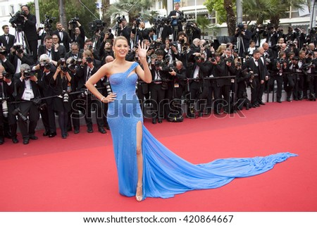 Blake Lively attends the BFG premiere, red carpet arrivals during The 69th Annual Cannes Film Festival on 14 may 2016 at Palais du festival in France, Cannes - stock photo