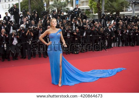 Blake Lively attends the BFG premiere, red carpet arrivals during The 69th Annual Cannes Film Festival, 14 may 2016 at Palais du festival in France, Cannes - stock photo