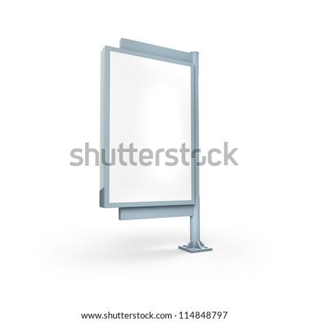 Blanc Vertical Billboard - stock photo