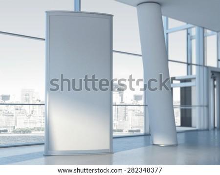Blank advertising panel. 3d rendering - stock photo