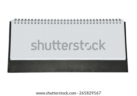 Blank agenda with metal spiral and dark background - stock photo