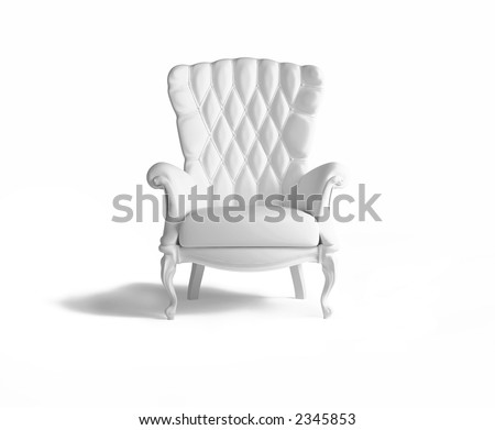 blank  armchair over the white - stock photo