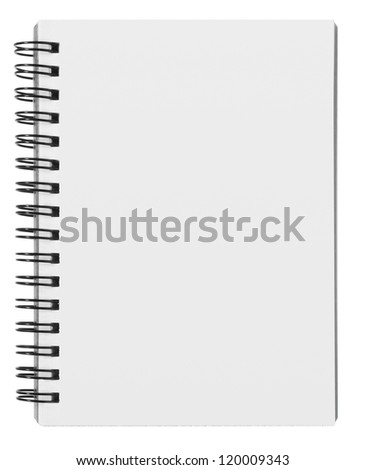 blank background. paper spiral notebooks isolated on whit - stock photo