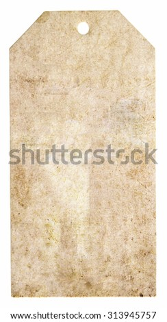 Blank background shaped label for note - stock photo