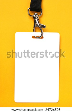 Blank badge - stock photo