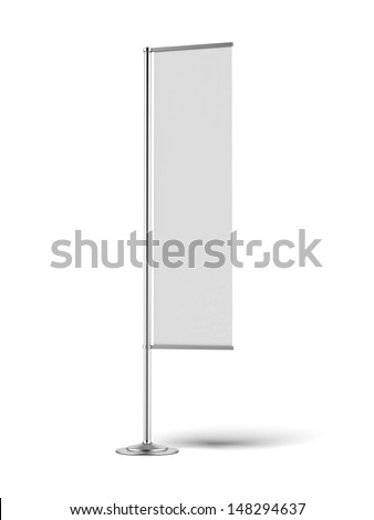 Blank banner flag - stock photo