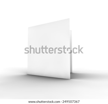 Blank Bifold Paper Brochure, 3D Illustration - stock photo