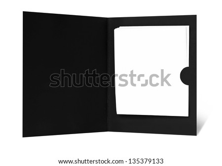 Blank bill receipt cover - stock photo