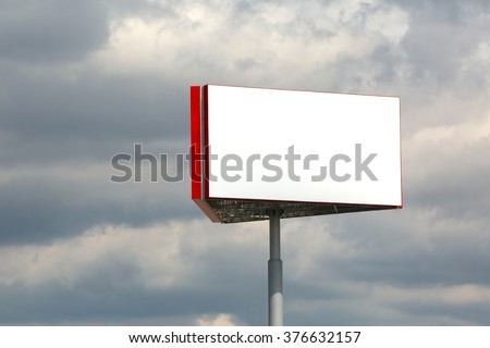 Blank Billboard Column - stock photo