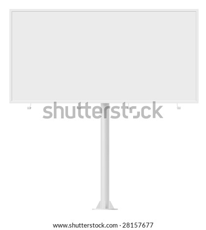 Blank billboard. Design template, contains clipping path. - stock photo
