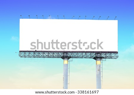 Blank billboard for your advertisement ,with clipping path - stock photo